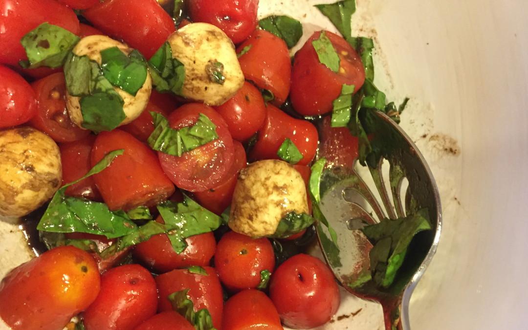Baby San Marzano Caprese Salad